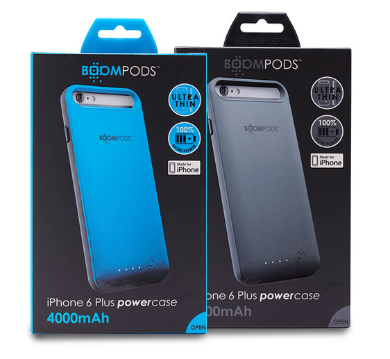 Boompods - Powercase 4000 for iPhone 6 Plus