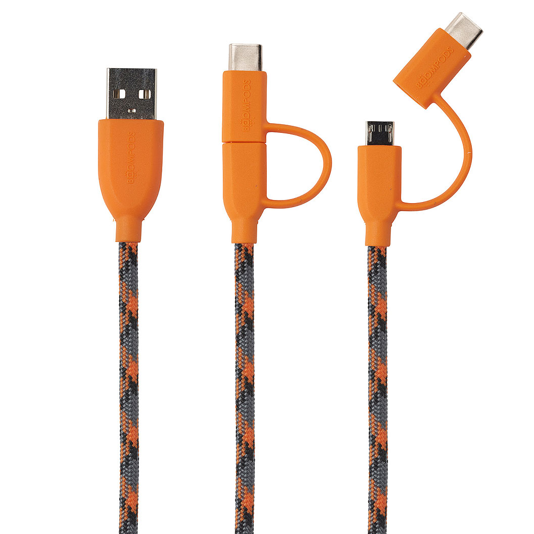Boompods - Duo C-Type Cable in Orange
