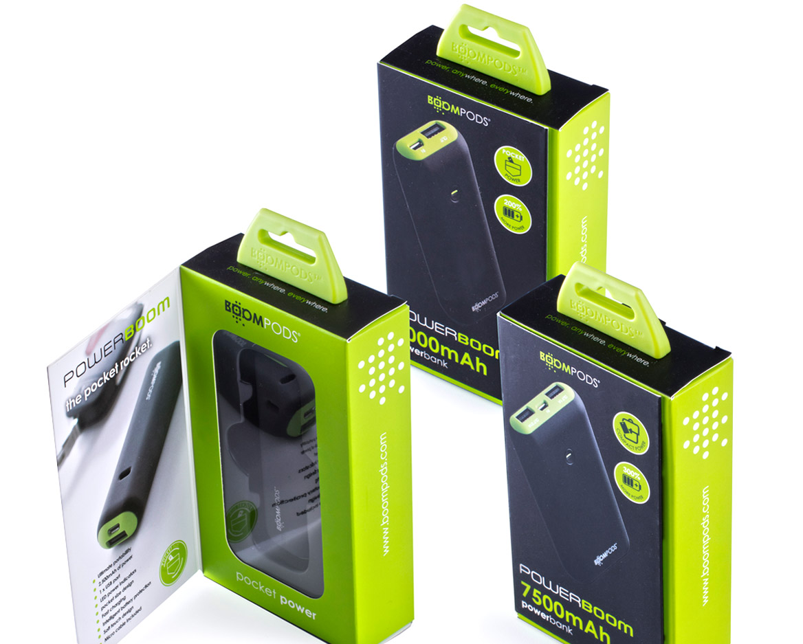 Boompods - Powerboom USB power bank boxes