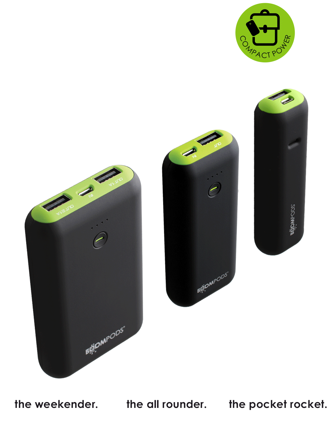 Boompods - Powerboom USB power bank - Close up