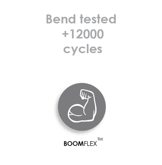 Boomflex bend Test for Miro USB | Lightning | USB-C to USB-A 1.5m Cable - BoomFlex - by Boompods