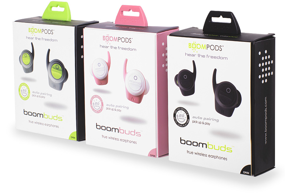 Boompods - boombuds boxes