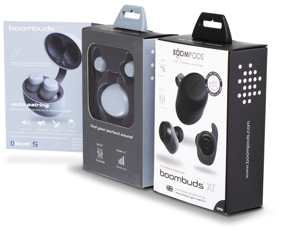 Boompods Boombuds XR boxes