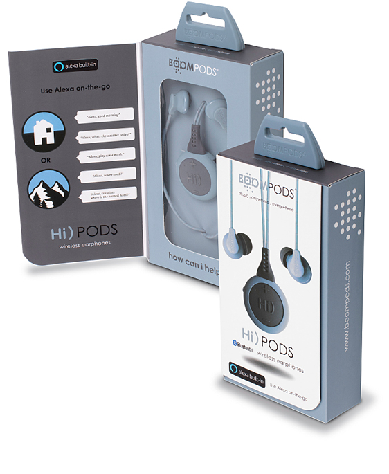 Boompods Hi)PODS boxes