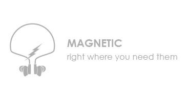 Boompods sportline plug-in - Magnetic design