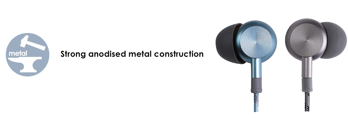 Stong anodised metal construction