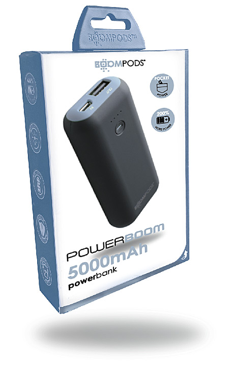 Powerboom 5000mAh Ice Blue box
