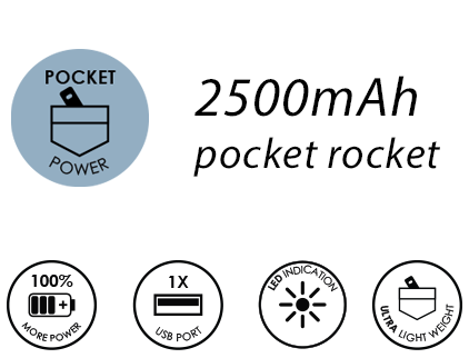 powerboom 2500mAh - The pocket rocket