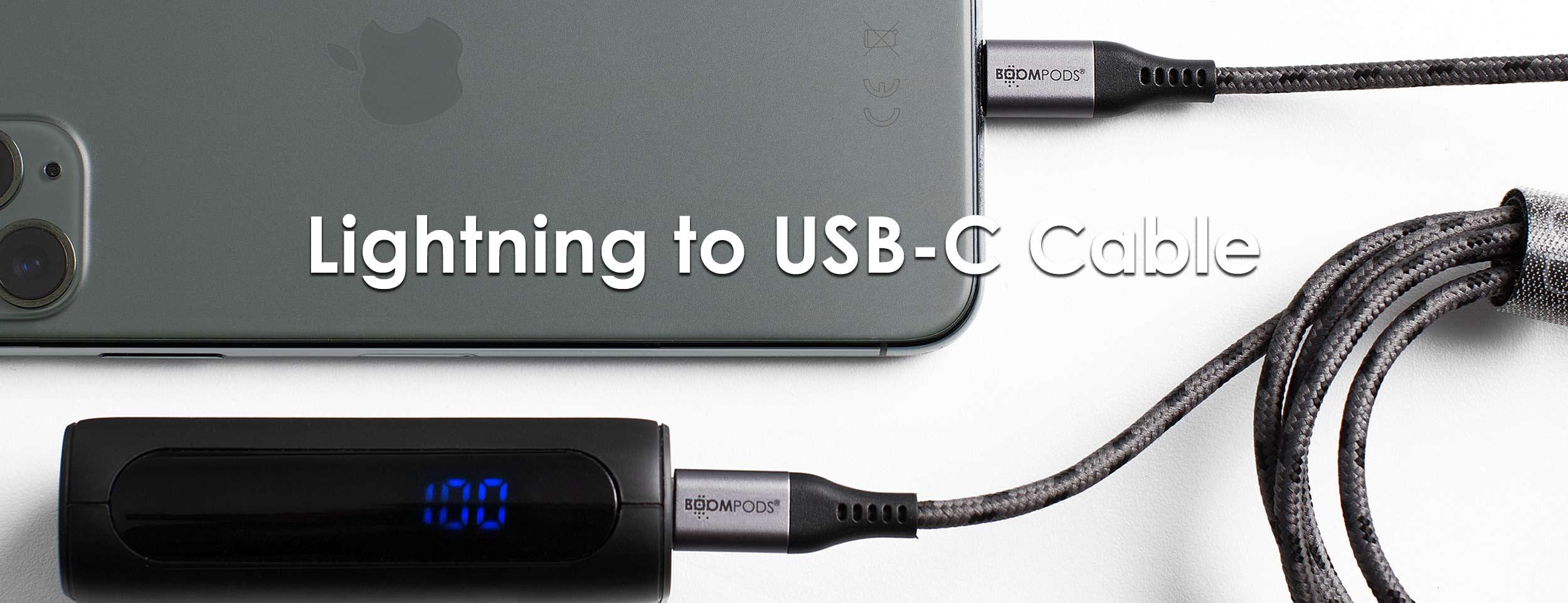 Boompods Retro Armour Apple Lightning to USB C (1.5m)