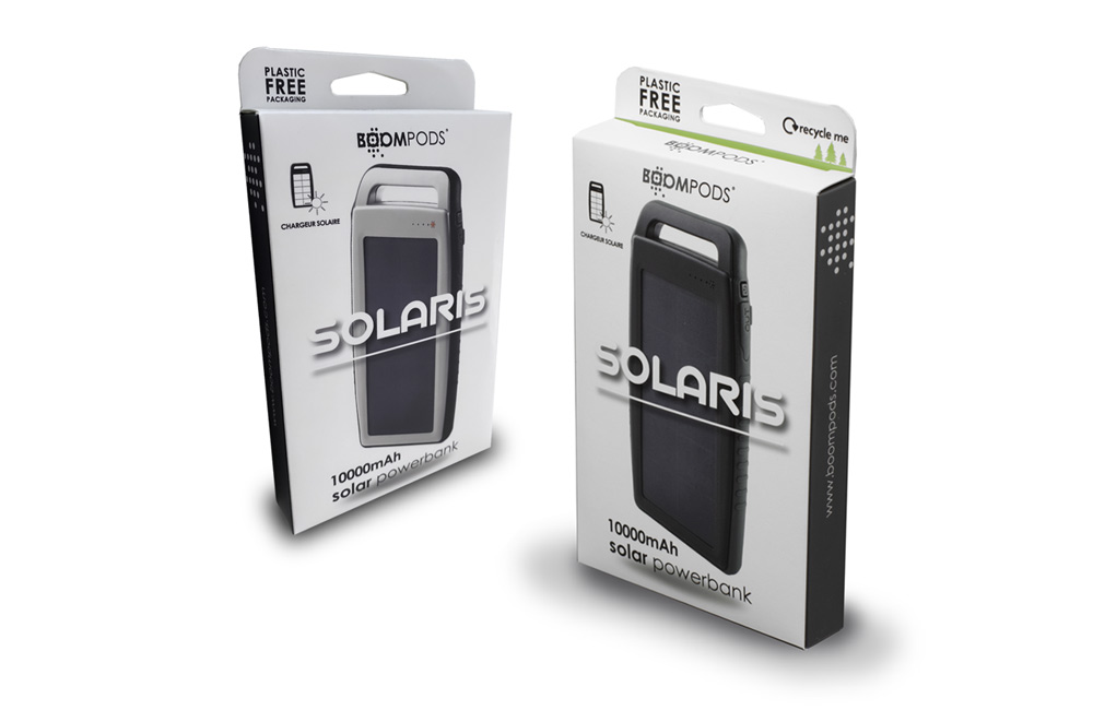 Boompods Solar Powered Battery - Solaris boxes