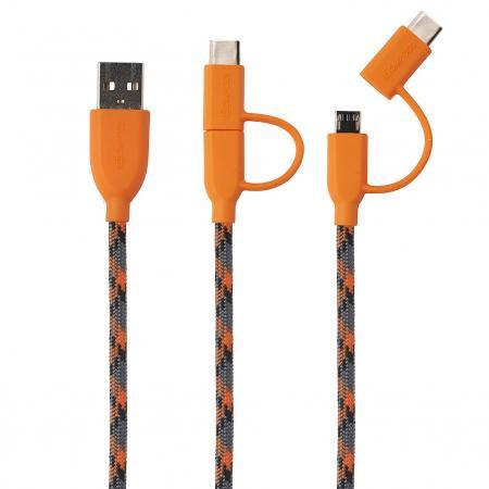 Boompods - Duo C-Type Cable in Orange