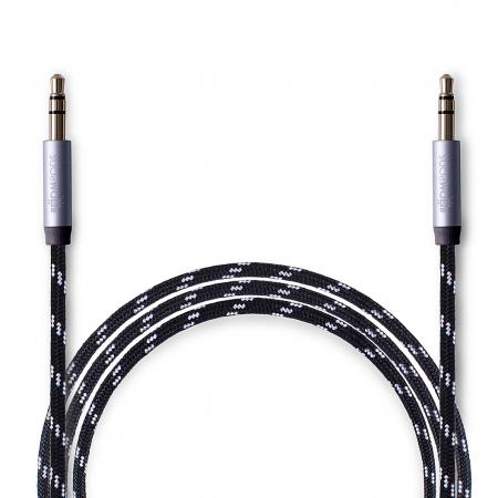 Boompods - Retrocable AUX - In Black